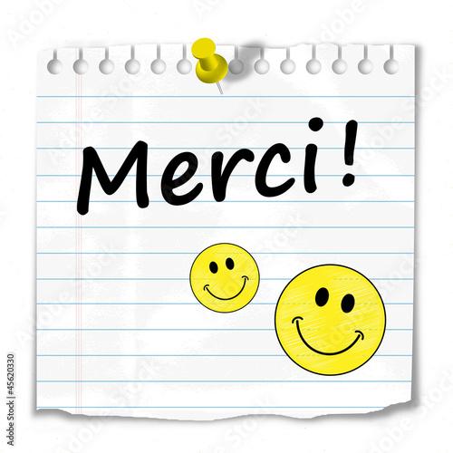 Message Merci Sourire Gentillesse Carte Beaucoup Plaisir