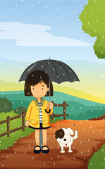 djevojčica i pas