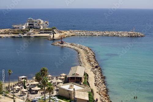 Deurstickers Tunesië Sea coast in Monastir, Tunisia in Africa