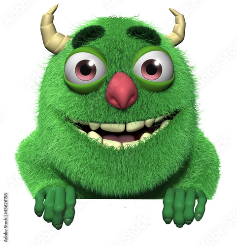 Poster Sweet Monsters 3d cartoon cute furry bigfoot
