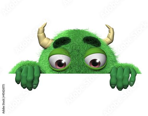 Keuken foto achterwand Sweet Monsters 3d cartoon halloween green monster