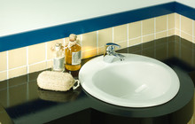 Interior Of Faucet And Washbasin With Some Blank Spaces You Coul