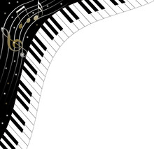 Piano Keyboard Background With...
