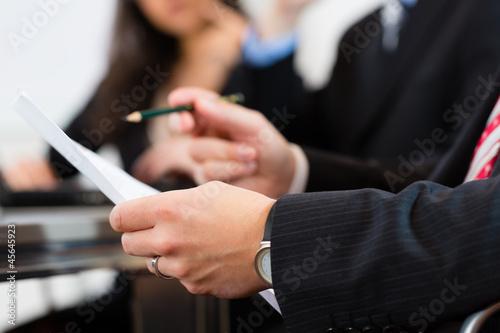 Fototapeta Business people during meeting in office obraz na płótnie