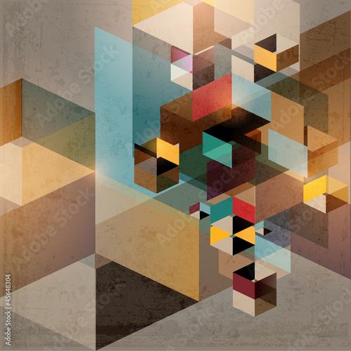 Geometric retro background - 45648304