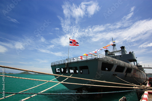Photo warship  in Thailand