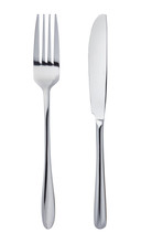 Knife And Fork Isolated On Whi...