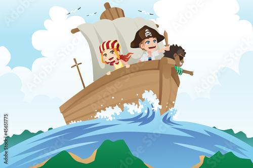 Photo sur Toile Pirates Pirates kids