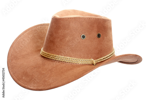 Fotografía  Cowboy hat on a white background.