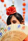 Mujer en la Feria de Sevilla
