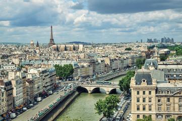 Panel Szklany Paryż View of Paris form the Notre Dame.