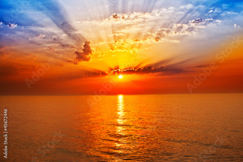 sunrise in the sea - 45672446