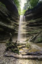 Waterfall Pähler Schlucht In Bavaria Germany