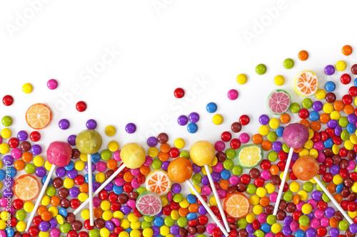 Keuken foto achterwand Snoepjes Mixed colorful sweets