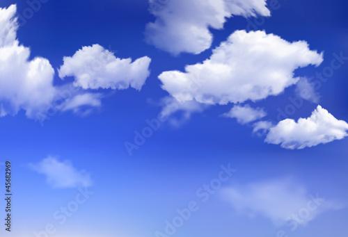 Papiers peints Ciel Blue sky with clouds. Vector background.