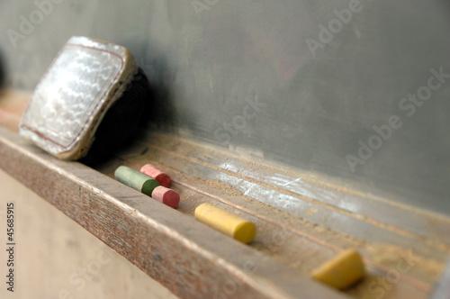 Fotografie, Obraz  放課後の教室の黒板