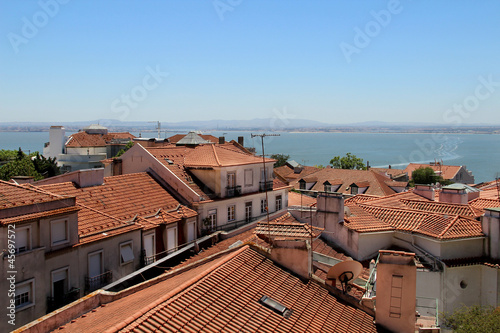 Lisbon roofs, Portugal Wallpaper Mural