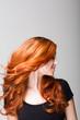 canvas print picture - Profil einer feurigen Frisur