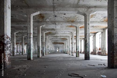 Photo Stands Ruins opuszczona hala