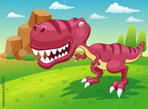 Wall Murals Dinosaurs illustration of cartoon dinosaur vector