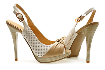 buty kobieta na białym tle