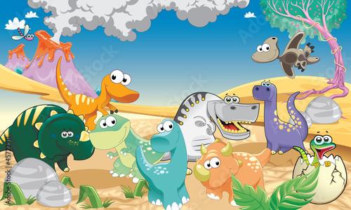 Foto op Plexiglas Dinosaurs Little Prehistoric Dinasaurs