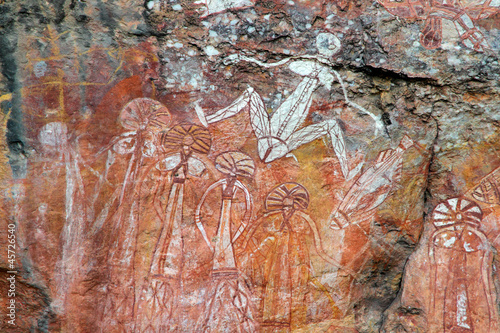 Foto op Canvas Australië Aboriginal rock art at Nourlangie, Australia