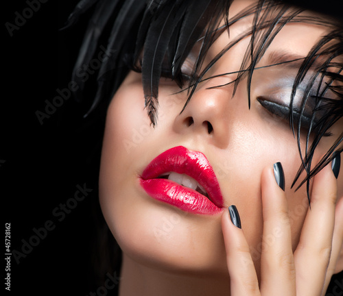 Poster - Fashion Art Girl Portrait. Vivid Makeup