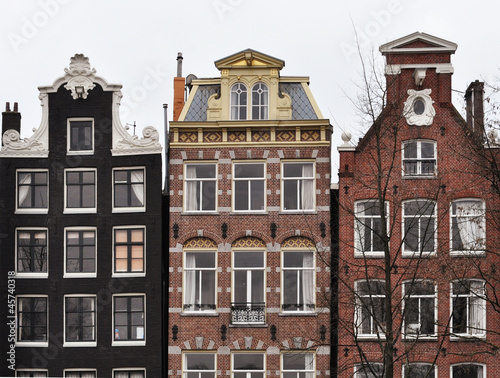 Photo  Amsterdam canal houses