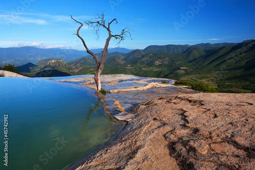 Fotobehang Natuur Park Hierve del Agua, Oaxaca, Mexico