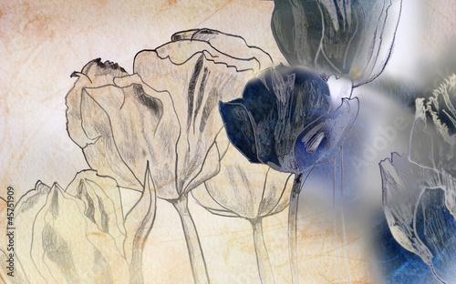 abstrakcyjny-szkic-z-kwiatami