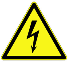 Warnzeichen - Elektrische Span...