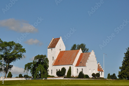 Kirche von Kalvehave in Dänemark Poster