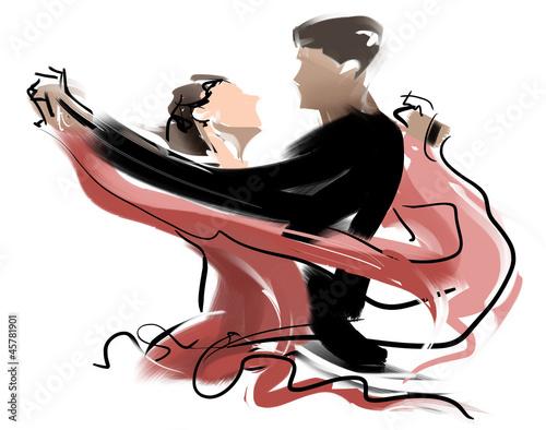 Obraz na plátně Social dance01