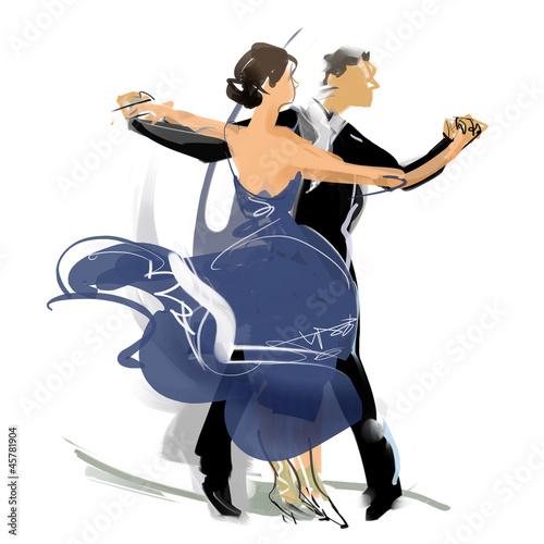 Leinwand Poster Social dance03