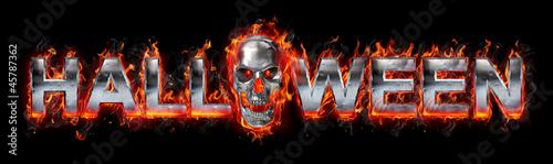 Poster Flamme Halloween