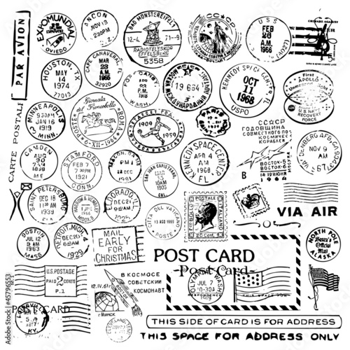 Photo Air Mail Stamp Collection