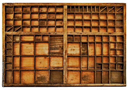 Canvas Prints Library casier d'imprimerie