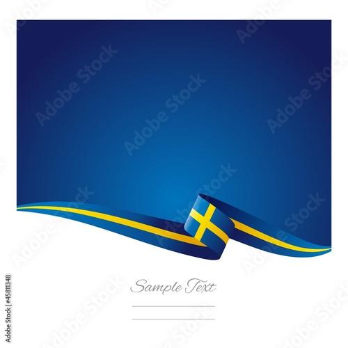 Fotografía  Swedish flag abstract color background vector