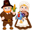 Cute Pilgrims Couple