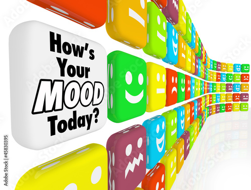 Fotografie, Obraz  How is Your Mood Emotions Feelings Indicator