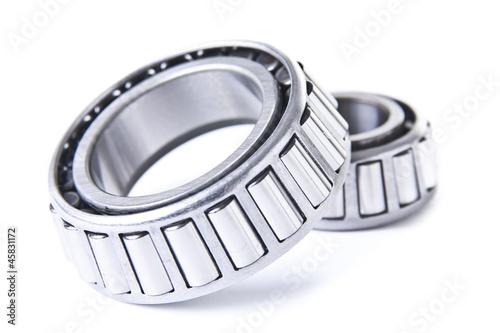 Photo Wheel Bearings on White Background