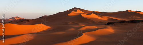 Photo Panorama of sand dunes, Sahara desert