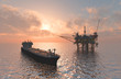 canvas print picture - Oil Rig