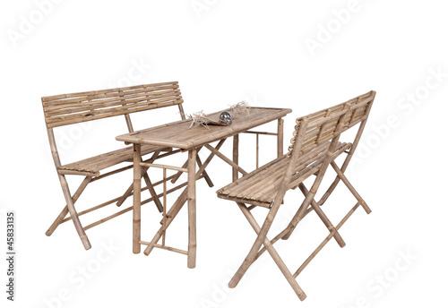 Bambus Gartenmobel 2 Banke 1 Tisch Bierzeltgarnitur Asiatisc Buy