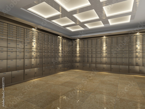 Fototapeta Interior of a bank vault obraz