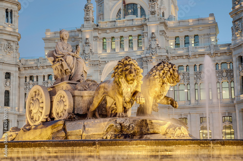 Poster Madrid Cibeles Fountain at Madrid, Spain