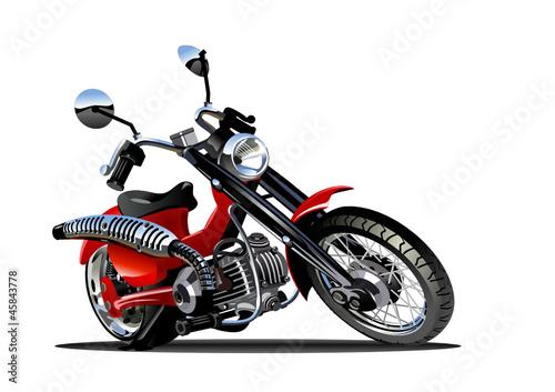 Poster Motocyclette Vector Cartoon Motorcycle