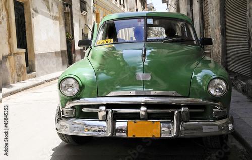 Deurstickers Cubaanse oldtimers taxi