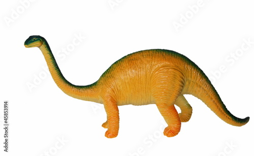 Fotografie, Tablou  Toy plastic dinosaur isolated on white background,